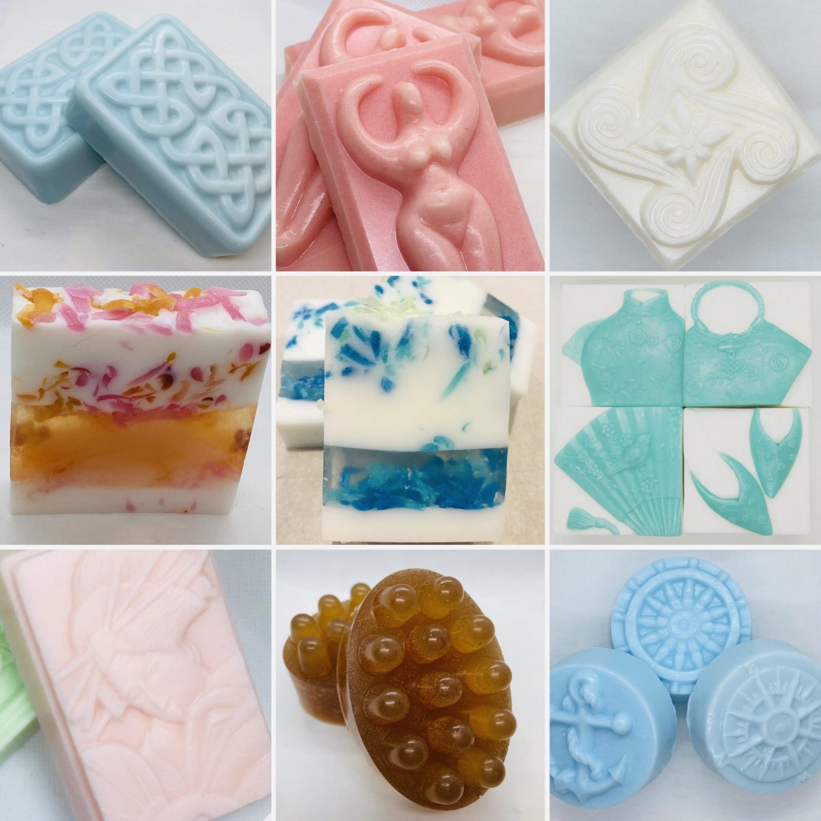 Collage of soaps